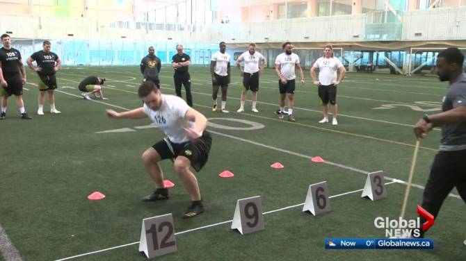 Click to play video: Top football prospects in Edmonton for CFL Combine