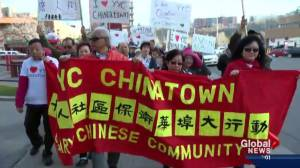 Hundreds rally to 'save' Calgary's Chinatown (02:08)
