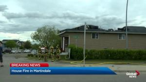 Fire in Martindale damages two homes
