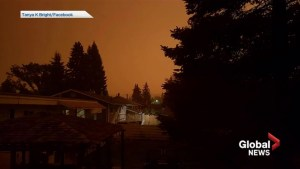 Wild fire smoke darkens Prince George sky