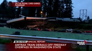 Passenger from derailed Amtrak train describes the scene