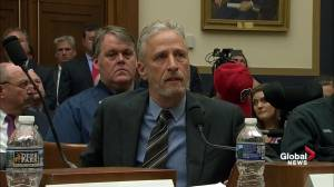 Jon Stewart breaks down in front of House Judiciary committee