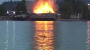 Two barge fires within three months at same Surrey location