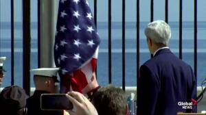 American flag raised at U.S. embassy in Cuba for first time in 54 years