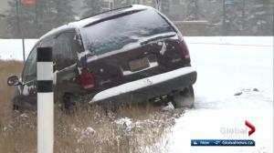 Snow, slippery streets grind Edmonton traffic to hault