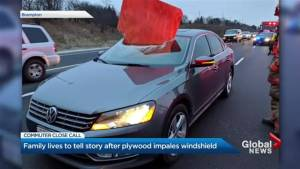 Women in vehicle impaled by plywood sheet tell their story