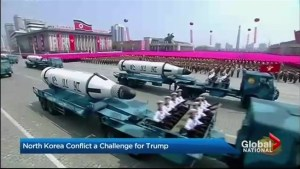 North Korea conflict a challenge for Trump