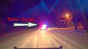 Wisconsin man allegedly leads police on chase, using squad car as escape vehicle