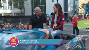 K-Days Parade led by Olympian Kaetlyn Osmond