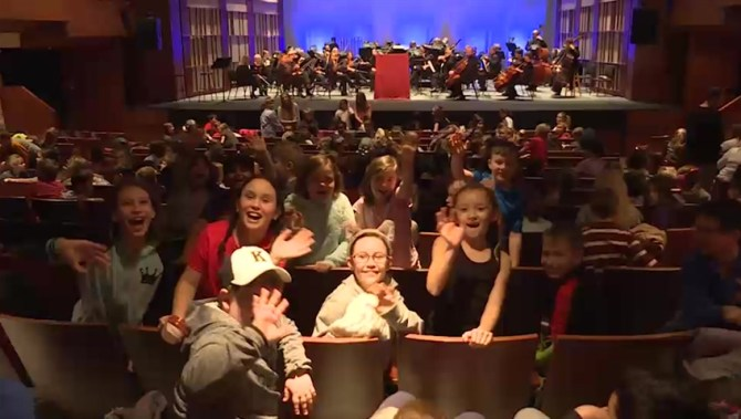 Local elementary students left mesmerized by the Kingston Symphony