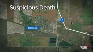 Suspicious death investigation southeast of Calgary