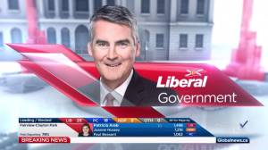 Nova Scotia election: Global News projects Liberal victory (01:15)