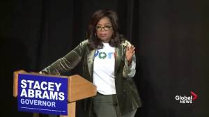 Oprah Winfrey says 'I don't want to run' at town hall for Georgia candidate Stacey Abrams