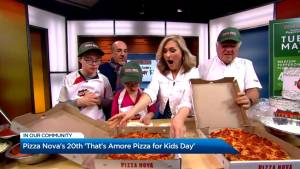 Pizza Nova's 20th 'That's Amore Pizza for Kids Day'
