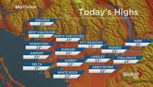 BC Evening Weather Forecast: Jul 7