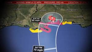 Flooding expected in southern Louisiana as Hurricane Nate hits