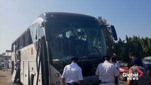 At least 16 wounded after bomb hits tourist bus near Egypt's Giza Pyramids