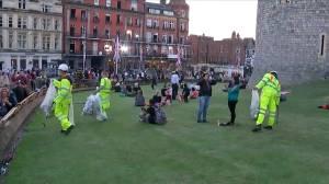 Cleanup underway in Windsor, U.K. after Royal Wedding