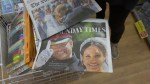 U.K. residents flock to grab Sunday papers following Royal Wedding