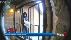 Porch thief goes inside, homeowner worried