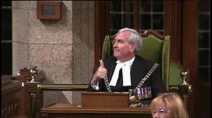 Elizabeth May honours Sergeant-at-Arms Kevin Vickers