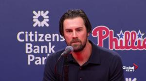 Roy Halladay helped make Phillies 'dominant pitching' team: Hamels