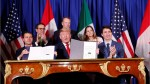 USMCA deal signed by Trudeau, Trump and Pena Nieto