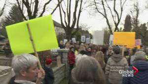 Vancouver residents hold protest outside mansion slated to be torn down