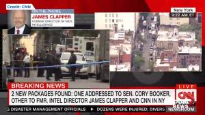 James Clapper says President Trump struck wrong tone with his remarks on pipe bomb scare