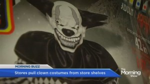 Retailers pull clown costumes, masks