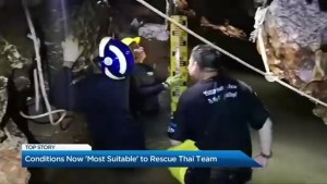 """Conditions now """"most suitable"""" to rescue soccer team from Thailand cave"""