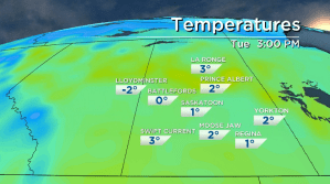 Saskatoon weather outlook: first above freezing temps in 40 days
