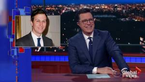 Stephen Colbert takes aim at 'unqualified' Jared Kushner on 'Late Show'