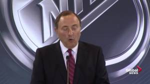 NHL Commissioner Gary Bettman announces it is deferring the application of Quebec City