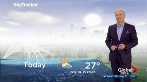 Edmonton noon weather forecast: Friday, August 17, 2018