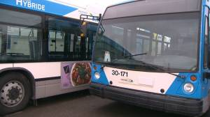 Montreal buses sit idle while waiting for maintenance