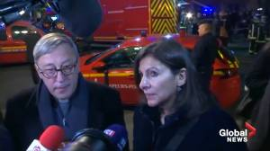 Notre Dame fire: Cathedral archpriest, Paris mayor, residents and tourists react to blaze (03:36)