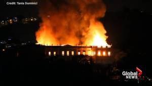 Fire engulfs Rio de Janeiro's National Museum as firefighters race to save relics