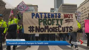 Thousands of protesters descend on Queen's Park upset over Ontario health care