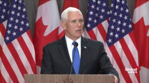Pence commends Canada for stance on Venezuela, Trudeau says it differs on Cuba's influence
