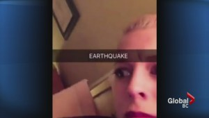 British Columbians talking about 4.3 magnitude earthquake