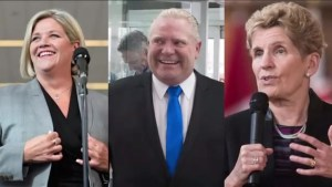Kathleen Wynne, Andrea Horwath react to Doug Ford's new role as PC leader