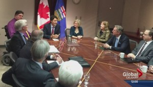 Prime Minister Trudeau talks oil during stop in Calgary