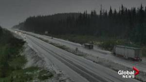Snow blankets Okanagan Connector in June…. again (00:35)