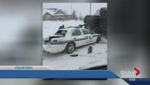 Alberta man has dangerously close call on Highway 28