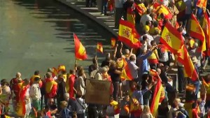 Thousands demonstrate in support of Spanish unity