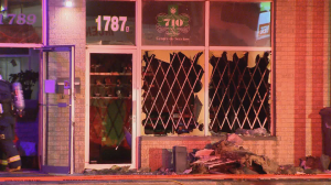 Suspected arson at Chomedy vape shop