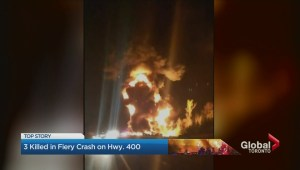 3 dead in fiery multi-vehicle crash on Highway 400 near Bradford