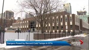 Dangers posed by record cold temperatures in GTA