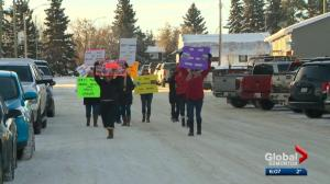 Court date for Alberta pair charged in animal cruelty case draws protesters